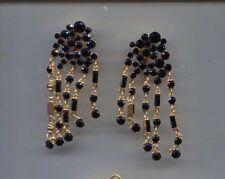 Black Drippy earrings Usa Oscar De La Renta