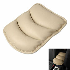 Car PU Leather Beige Support Box Top Mat Liner Cover Center Console Armrest Pad