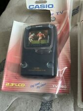 """Vintage Casio Handheld Color TV-980 2.3"""" LCD Analog Television New Sealed! B6"""