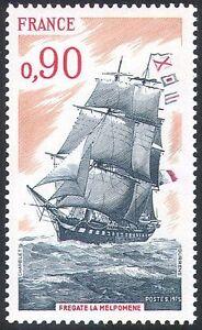 France 1975 Ships/Boats/Nautical/Sailing/Transport/Frigate/Navy 1v (n23272)