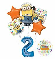 Despicable Me 3 Minions 2nd Birthday Party Supplies and balloon Decorations