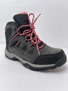HI-TEC Women's Bandera Mid II WP Charcoal Graphite Hiking Boots Size 8 NEW