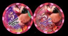 $5 Las Vegas RIO Masquerade Show in the Sky Casino Chip - Set of 2