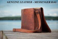MEN'S Genuine Leather Business Messenger Sac Serviette Portable Document L cartable