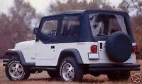 88-95 soft top Jeep Wrangler FOR HALF DOORS BLACK NEW  99615