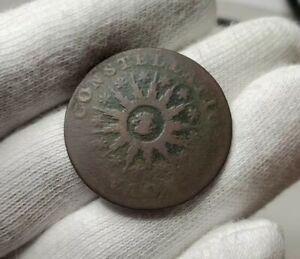 1785 Nova Constellatio Post Colonial Copper Coin - Crosby 5-E R4+ No Reserve!