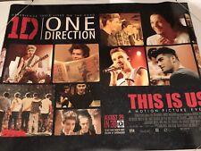 1D One Direction- This Is Us Original U.K. Quad Poster