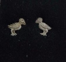 Puffins Birds Stud EARRINGS Pewter Made in the USA Silver Metal Beach Ocean