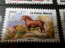 FRANCE 2013, timbre  AUTOADHESIF 813, CHEVAL BRETON HORSE oblitéré, VF STAMP
