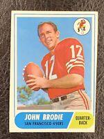 1968 Topps Football John Brodie #139 NM San Francisco 49ers