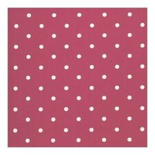 Clarke und Clarke Dotty Multi Rot Spot Designer Vorhang Polsterstoff