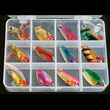 Forellenblinker Box Trout Spoon Set 12 Blinker Forelle Angeln Köder 2.5-3g DE
