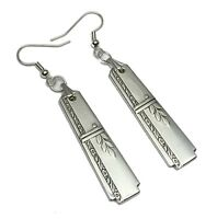 Spoon Earrings 1938 Oneida Prestige Grenoble Vintage Antique Deco Silverplate