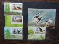Barbuda 1985 Butterflies set & Miniature sheet MNH