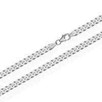 925 Sterling Silber Kette PANZERKETTE 50cm Königskette 4,10mm Breit 19,6gr 1835