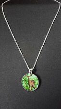 """Fawn Deer Dog Pendant On 18"""" Silver Plated Fine Metal Chain Necklace Gift N471"""