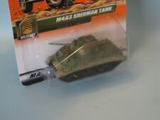 Matchbox M4A3 Sherman Tank Military Olive Green Camo Toy Model 65mm in USA BP