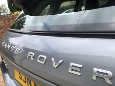Range Rover Letters Badge Bonnet Rear Boot Silver Vogue Evoque Sport 24 Hour Des
