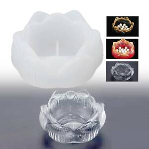 Lotus Silicone Ashtray Mold Resin Making Candle Holder Mould Casting Epoxy Craft