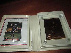 1993 Drew Bledsoe New England  Highland Mint Solid Bronze Card w/ Case & COA
