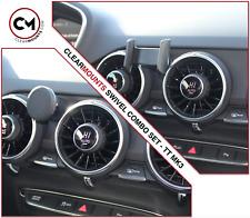 Clearmounts Swivel Magnetic & Cradle Phone Holder - Audi TT MK3 2015-2018 (8S)