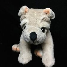"WishPets Cliff Sharpei Tan Beige Puppy Dog Plush Soft Toy 8"" 2002"