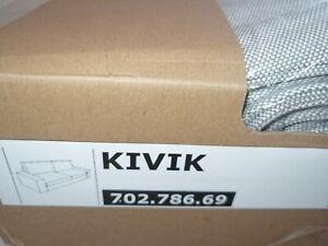 Ikea Bezug Kivik für 3er Sofa Orrsta hellgrau neu 702.786.69