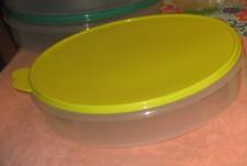 "Tupperware Pie Cookies Cupcake & Pizza Container 12"" Round Margarita Seal New"