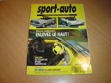 Sport Auto N°352 Spécial cabriolets.Alfa 33 16V Permanent 4.605 SV 24 / 164 V6