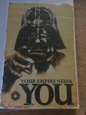 Star Wars Your Empire Needs You Vintage Pop Rock Promo Music Poster Memorabilia