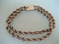 VINTAGE STERLING SILVER CHAIN BRACELET  MEXICO 32.8 GRAMS