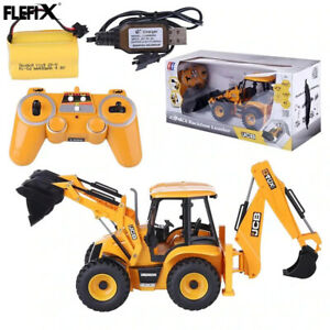 1:20 2.4G RC Remote Control JCB Toy Construction massive machine Backhoe Loader
