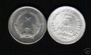 VIETNAM 5 HAO KM13 1976 NHNNVN UN COMMON VIETNAMESE MONEY ASIA COIN