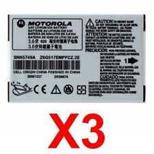 Lot Of 3 Oem Motorola Snn5749A Battery For C115 C139 C155 V170 V171 V173 V176