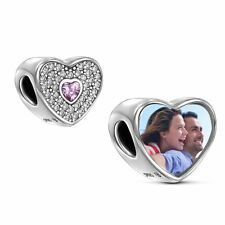 PERSONALISED CHARM FALL IN LOVE ENGRAVED 925 GENUINE REAL STERLING SILVER HEART