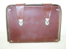 Antiguo Bandolera De Cuero Bolso piel, Diseño Vintage Comandante bolsillo NVA