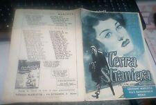 spartito antico TERRA STRANIERA (dal film omonimo) 1953