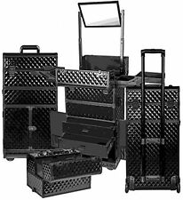 Professional Makeup Artists Rolling Train Case Vanity Storage Organizer Suitcase