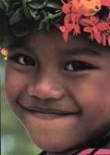 Postcard: lachendes Mädchen, Mikronesien