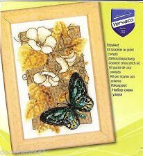 Vervaco 0144802 Miniatura Farfalla Kit Per Ricamo contato