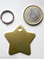Locket Medal Engraved Dog Star Brass Big Model Engraving 1 or 2 Faces