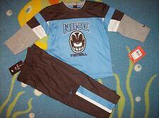 Nike Track Jogger Outfit Boys 2pc Football Set Sz 18 Mos Brown/Gray/Blue  NWT
