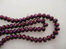 Transparent Amethyst AB Rondelle beads 4.5x6mm #5116 60 beads