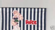 POPEYE CHECKBOOK COVER  FABRIC NEW CUTE  BLUE & WHITE