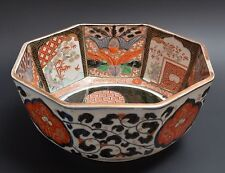 Antique Japanese IMARI Octagonal Bowl 1800s, Porcelain, pottery