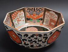 Antique Japanese IMARI Octagonal Bowl 1800s, Porcelain, pottery