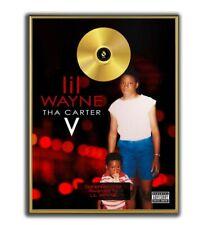 Lil Wayne Poster, Tha Carter V GOLD/PLATINIUM CD, gerahmtes Poster HipHop Rap