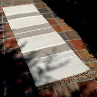 Rug Runner Hall Long Quality Natural Cotton Jute Indian Hand Loom  Fairly Traded