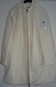 Women's Damart Wool Blend Coat Ecru Plain UK Size 22/USA 18 VR66 016