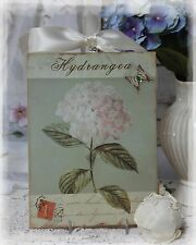 """~ """"Hydrangea"""" ~ Shabby Chic Vintage Country Cottage style ~ Wall Decor. Sign ~"""